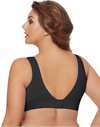 Just My Size Women`s Pure Comfort Wirefree Bra with Lace Trim & Back Close