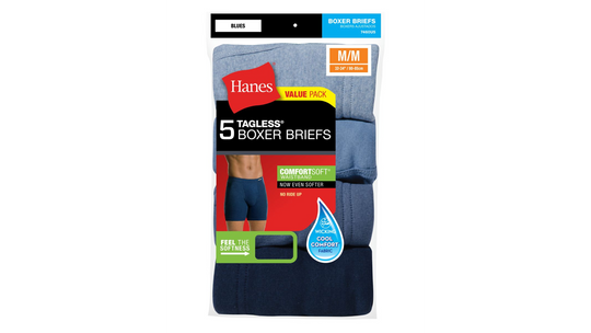 Hanes Mens FreshIQ Boxer Briefs with ComfortSoft Waistband 5-Pack