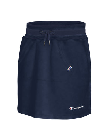 Champion Womens Campus French Terry Skirt, L, Athletic Navy