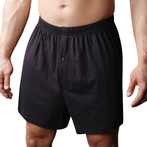 Players Mens Big Combed Cotton Knit Boxers 2-Pack