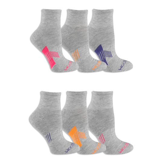 Fruit of the Loom Womens 6 Pair Everyday Active Ankle Socks