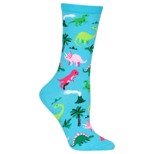 Hot Sox Womens Dinosaur Crew Socks