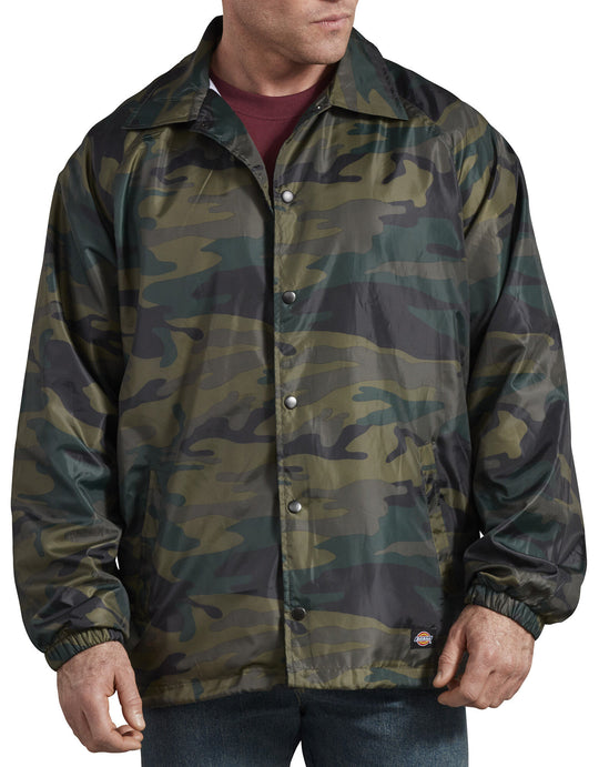 Dickies Mens Camo Coaches Jacket