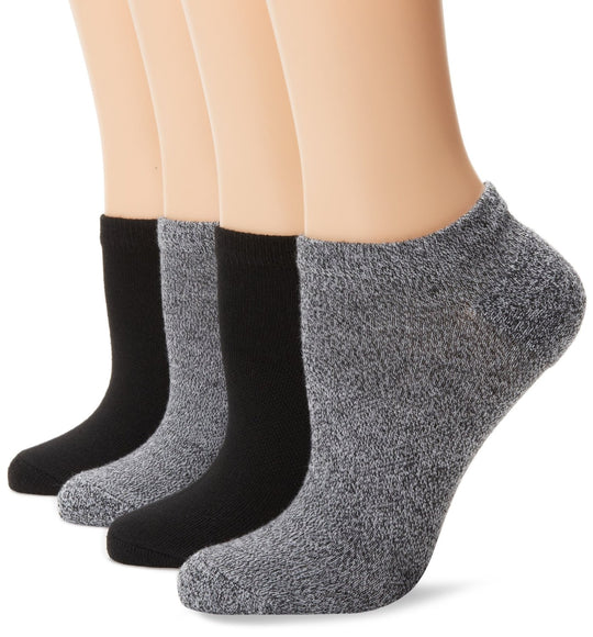 Hanes Women's 4 Pack Fit Comfort Collection No Show Sock