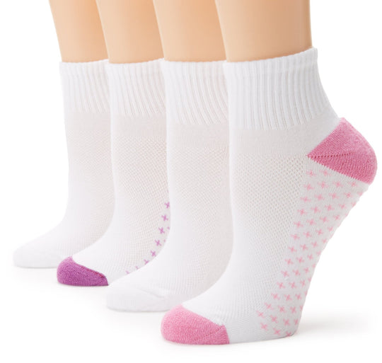 Hanes Women's 4 Pack Fit Comfort Collection Ankle Sock