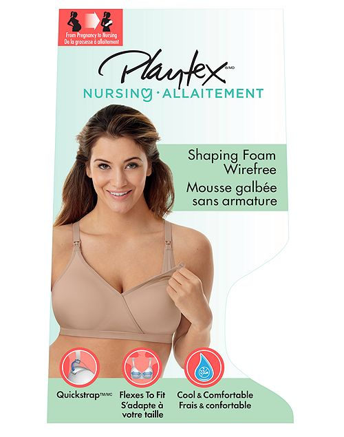Playtex Secrets Women`s Seamless Wirefree Nursing Bra with X-Temp™ Cooling