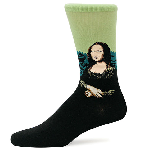 Hot Sox Mens Artist Series Mona Lisa Sock