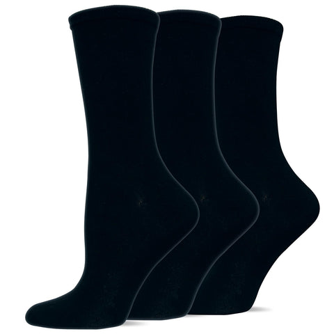 Hot Sox Womens Originals Solid 3 Pack Trouser Socks