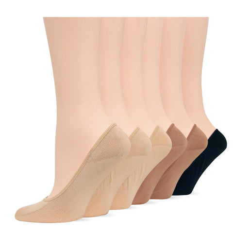 Hot Sox Womens Originals Solid 6 Pack Footliner Socks