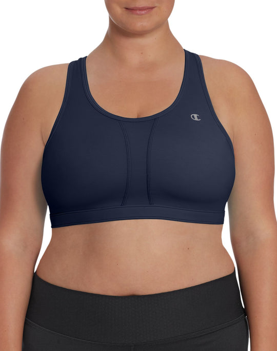 Champion Mesh-Vented Compression Plus-Size High Support Sports Bra