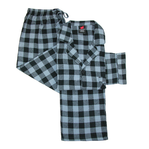Hanes Mens Cotton Flannel Pajama Set