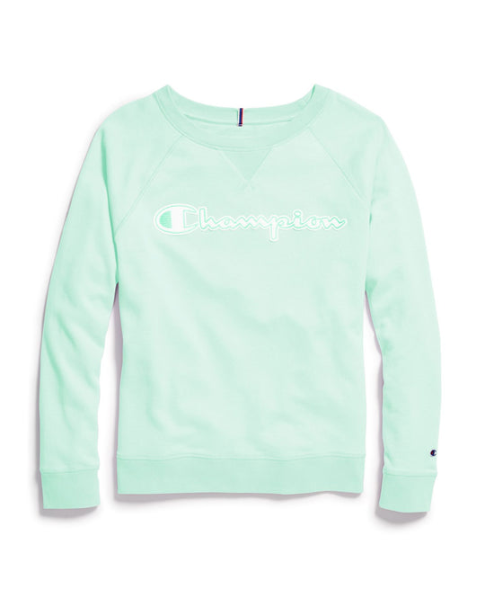 Champion Womens Plus Heritage French Terry Crew