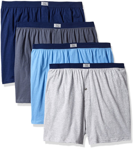 Fruit of the Loom Mens Soft Stretch-Knit Boxers 4-Pack - Extended Sizes