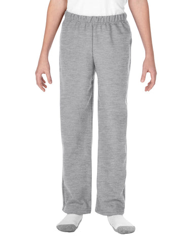 Gildan Youth Heavy Blend Open Bottom Sweatpants, XL, Sport Grey