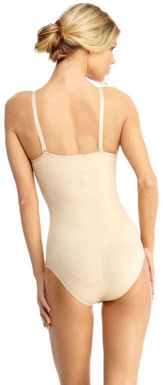 SlimMe By MeMoi womens Basic Control Bodysuit with Brief Shaper