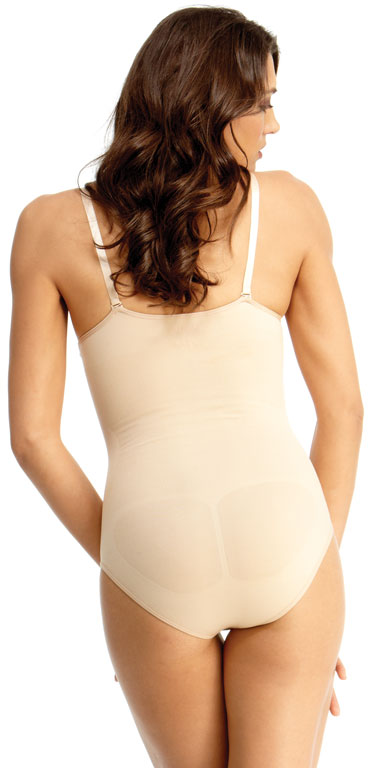 fbb4d692184 SlimMe By MeMoi Underwire and Wide Adjustable Straps Bodysuit with Brief
