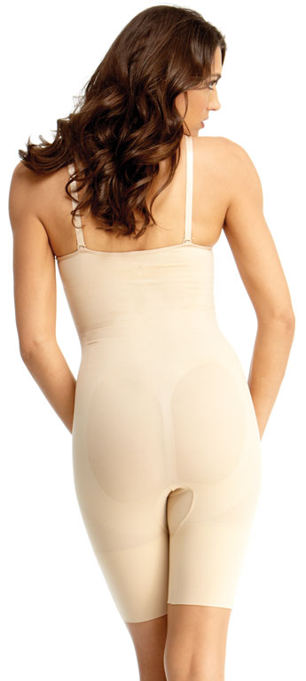SlimMe By MeMoi Full Bodysuit Thigh Shaper with Underwire