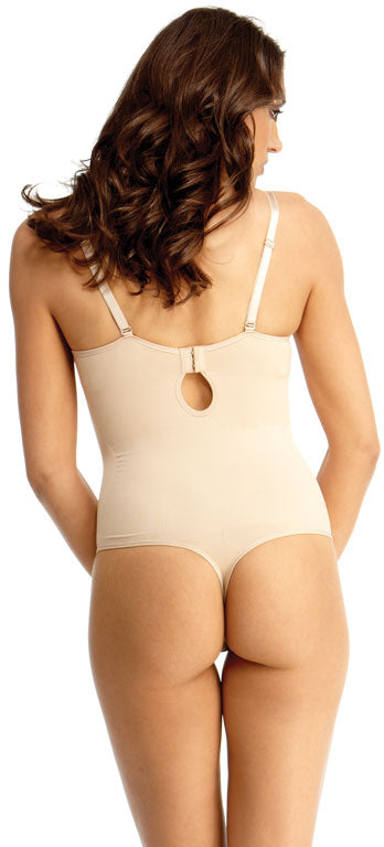 SlimMe By MeMoi Underwire and Padded Bra Bodysuit with Thong