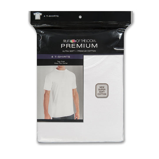 Fruit of the Loom Premium Men's 4 Pack Premium Cotton T-Shirts