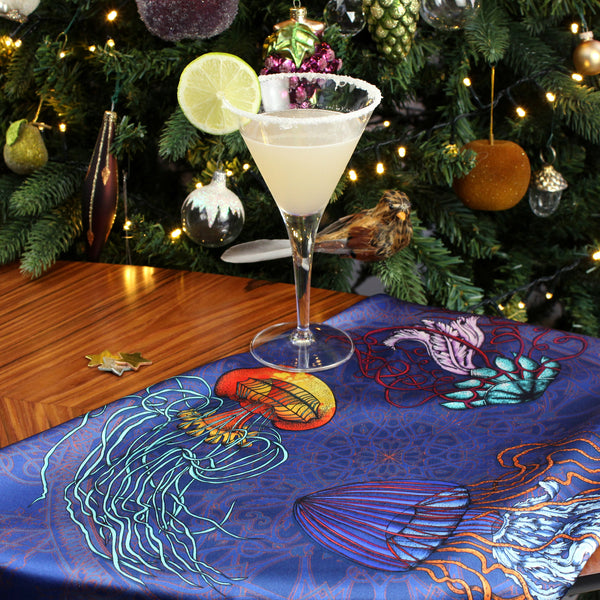A Daiquiri for Ernst Haeckel and the Dancing Jellyfish scarf