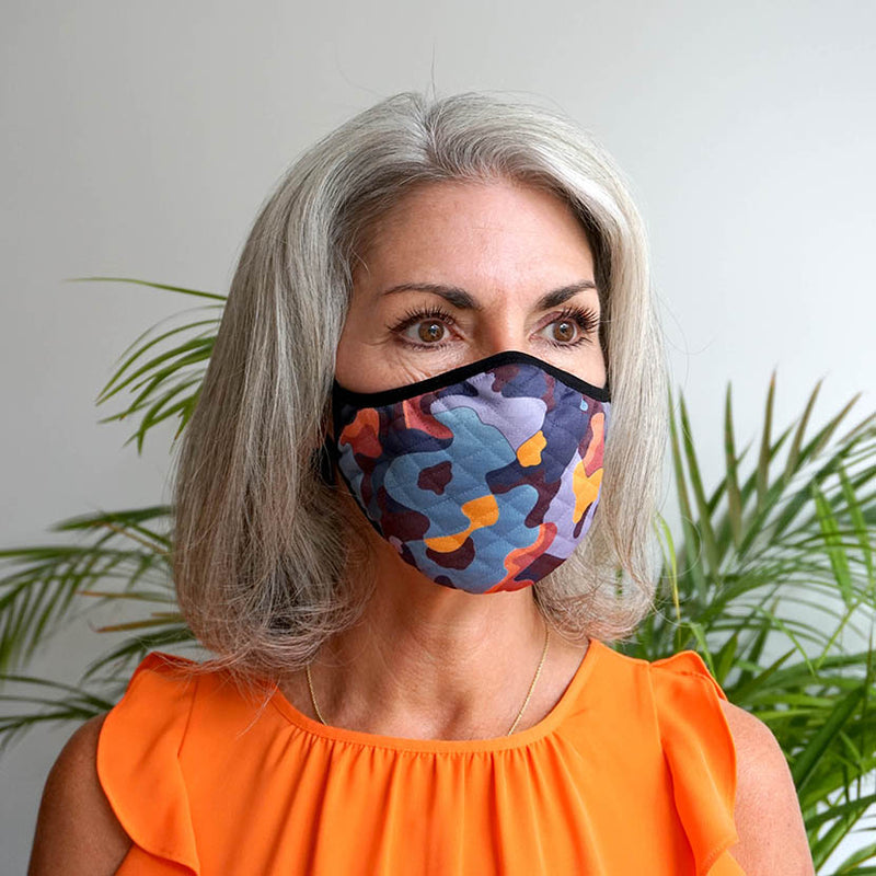 Coral Camouflage Face Mask