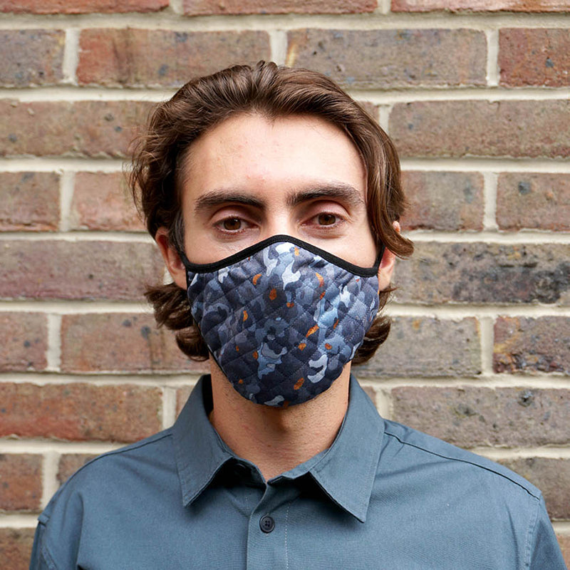 Blue Camouflage Face Mask