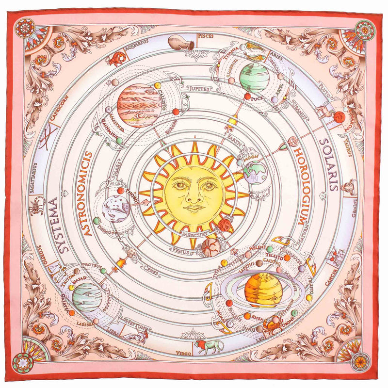 Planetarium Pink Pocket Square