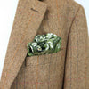 Queen Stag Beetle Green Pocket Square