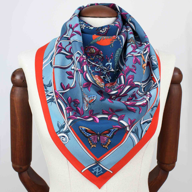 Japanese Cameo Turquoise Scarf