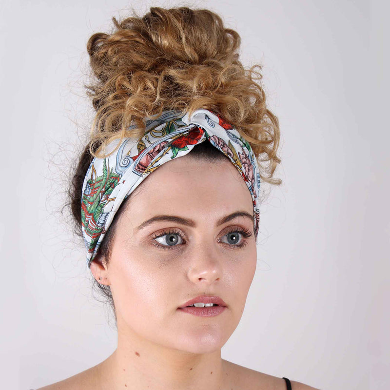 Delany Damask Light Silk Headband