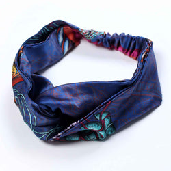 Dancing Jellyfish Blue Silk Headband