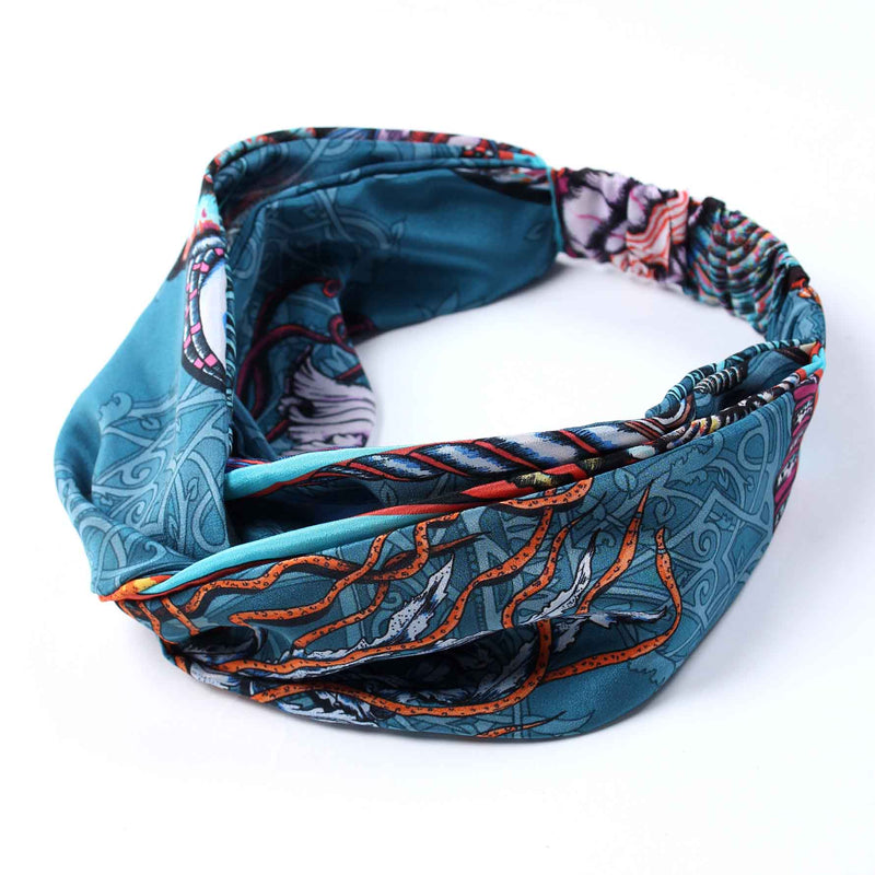 Dancing Jellyfish Turquoise Silk Headband