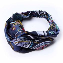 Hemisphaerium Blue Silk Headband
