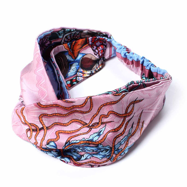 Dancing Jellyfish Pink Silk Headband