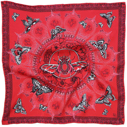 Queen Stag Beetle Red Pocket Square