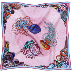 Dancing Jellyfish Pink Pocket Square