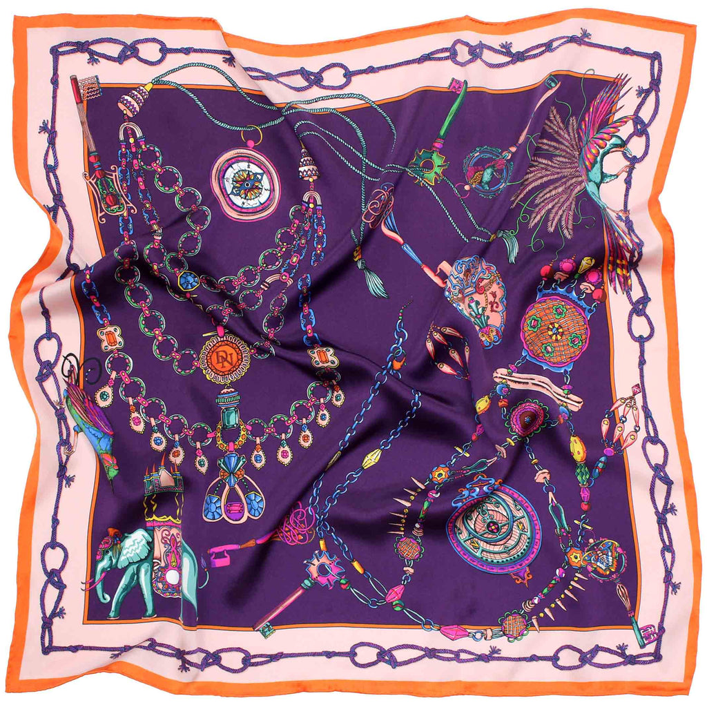 Barnes The Elephant Heirloom Purple Scarf
