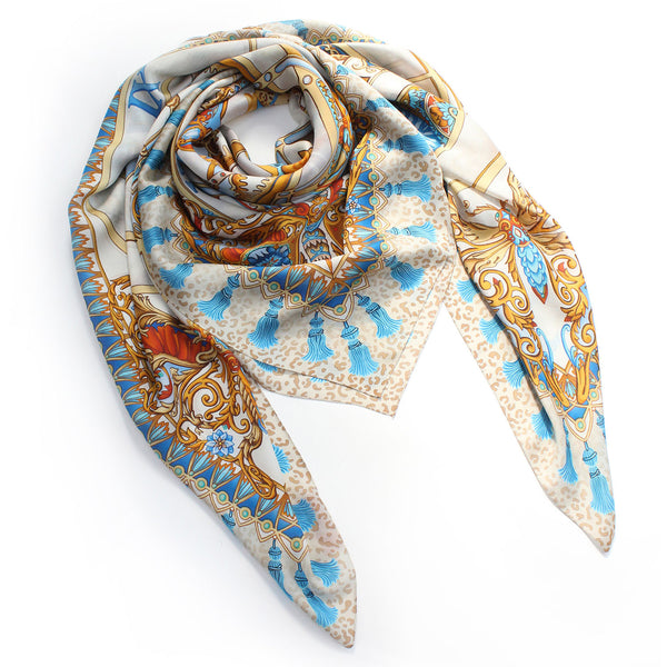 Clockwork Gold Large Scarf