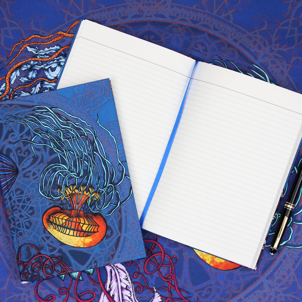 Dancing Jellyfish Blue A5 Notebook