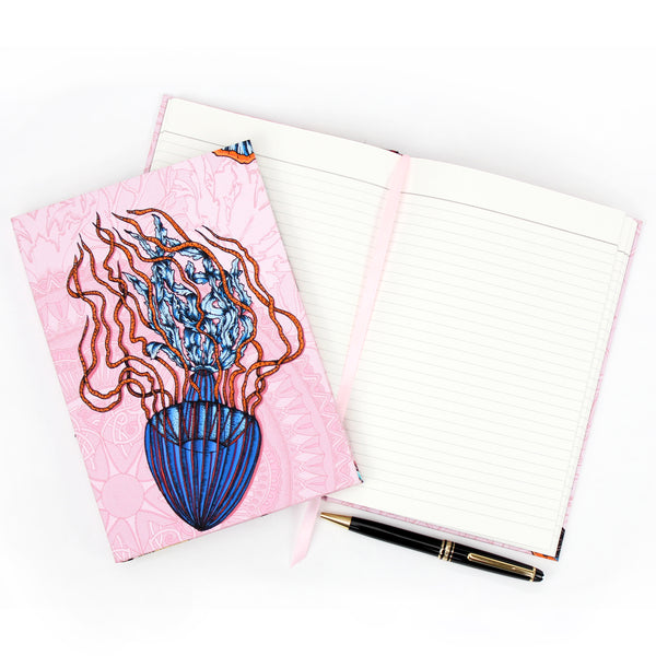 Dancing Jellyfish Pink Notebook