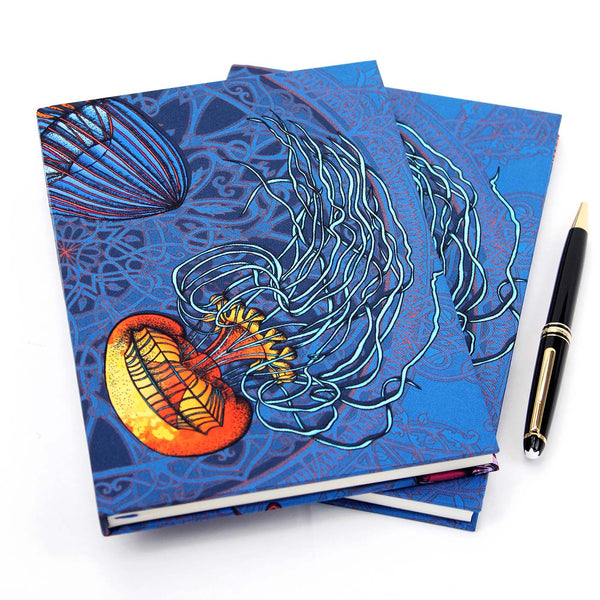 Dancing Jellyfish Blue Notebook
