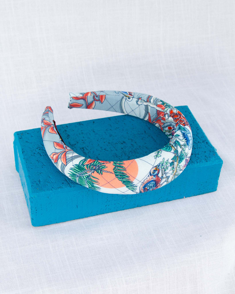 Cameo Soft Blue Quilted Headband