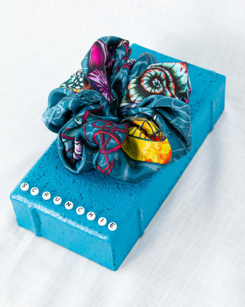 Dancing Jellyfish Turquoise Scrunchie