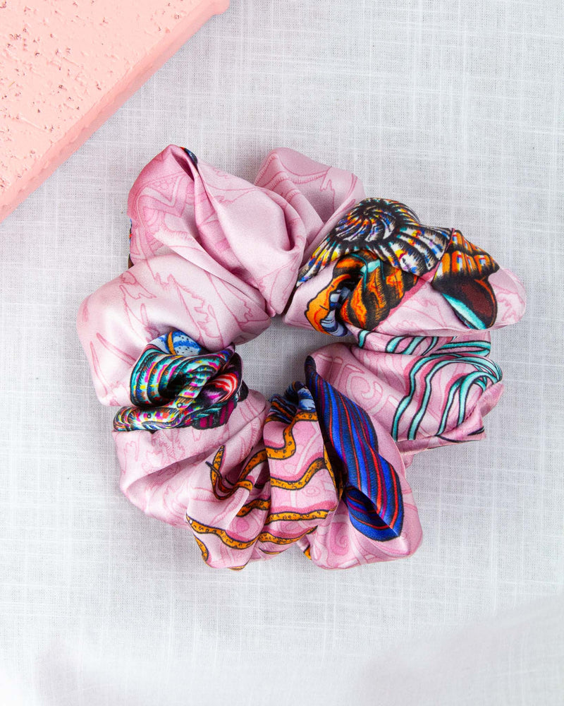 Dancing Jellyfish Pink Scrunchie