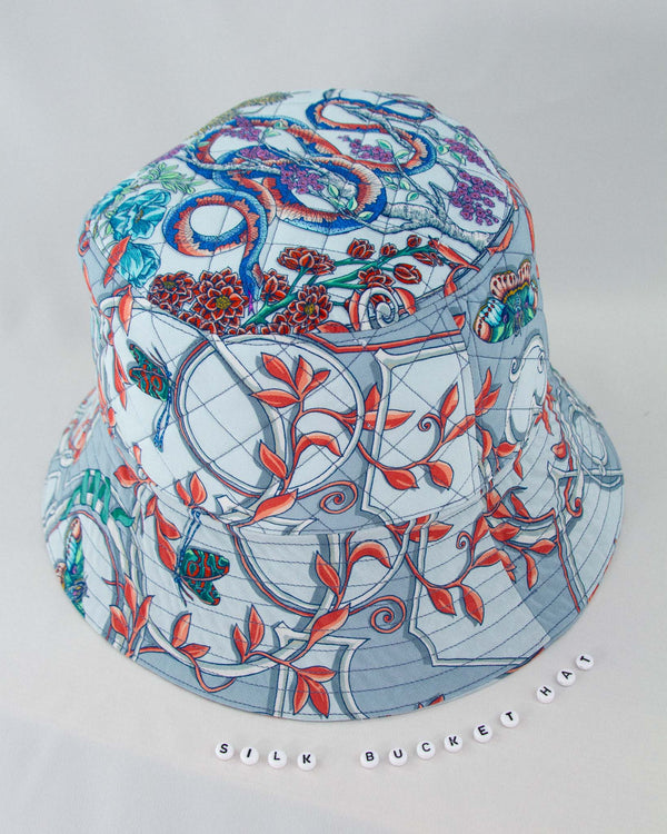 Cameo Soft Blue Silk Bucket Hat