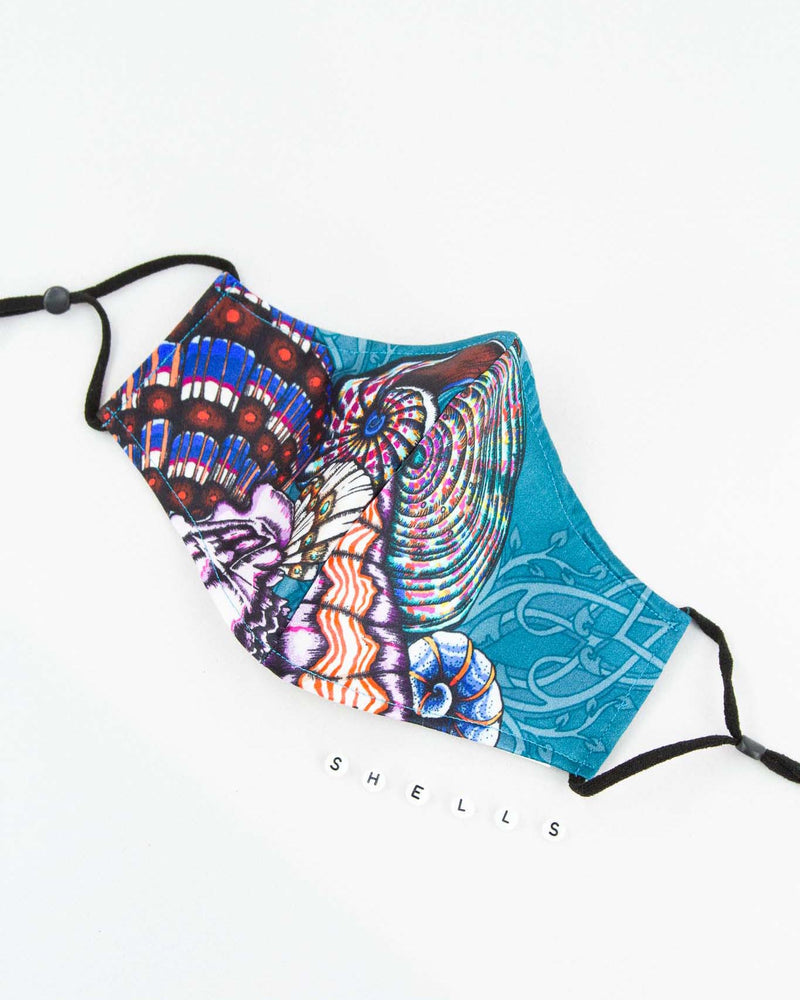 Dancing Jellyfish turquoise Silk Mask