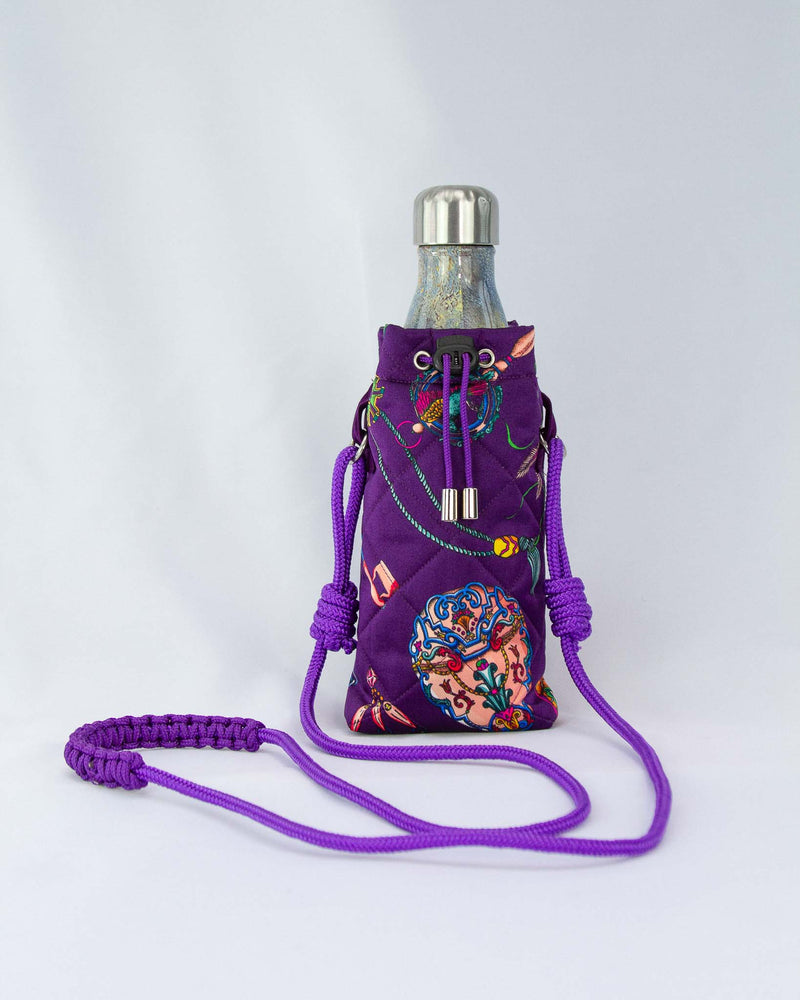 Water Bottle Bag in Purple
