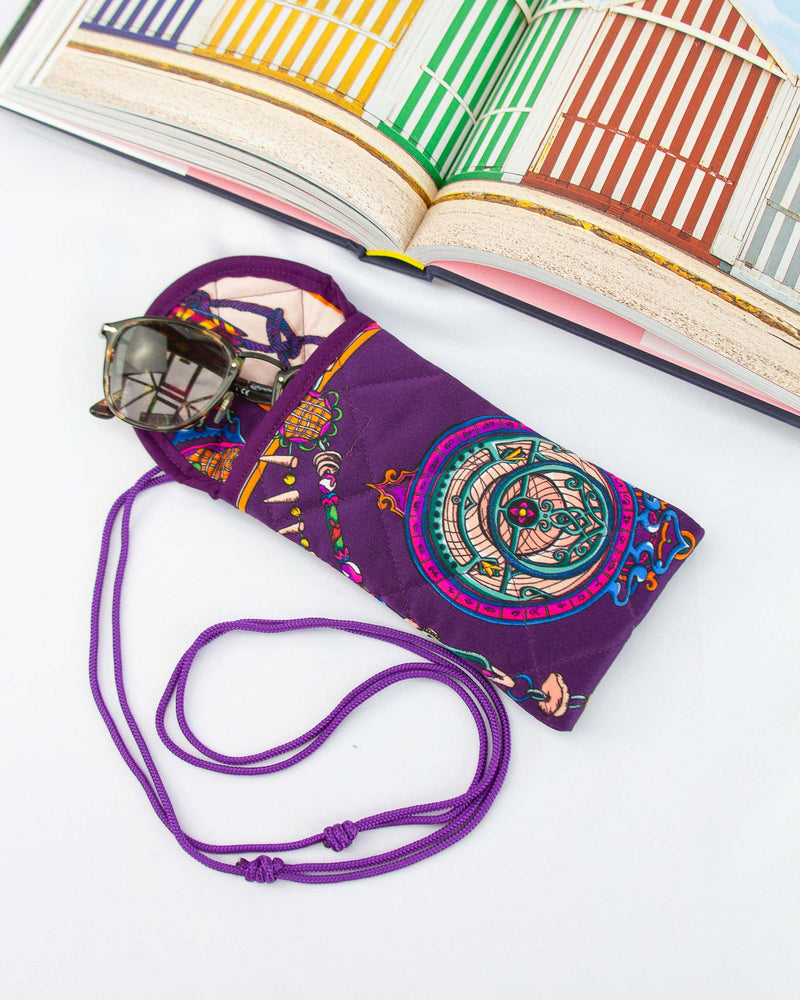 Darcy Glasses Case in Purple
