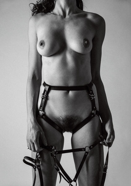 'Bryony wearing a Broke Boutique harness' - C-Type Print (OE)