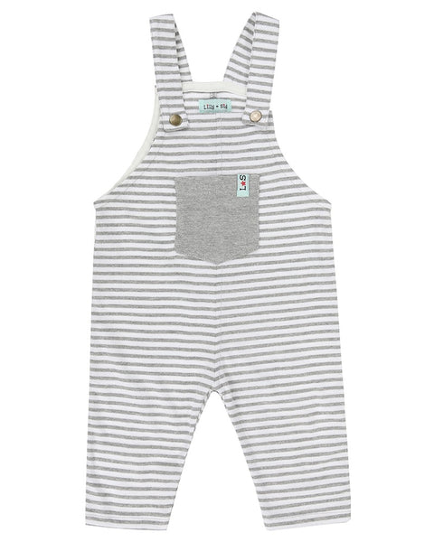 Jersey Stripe Dungaree Grey